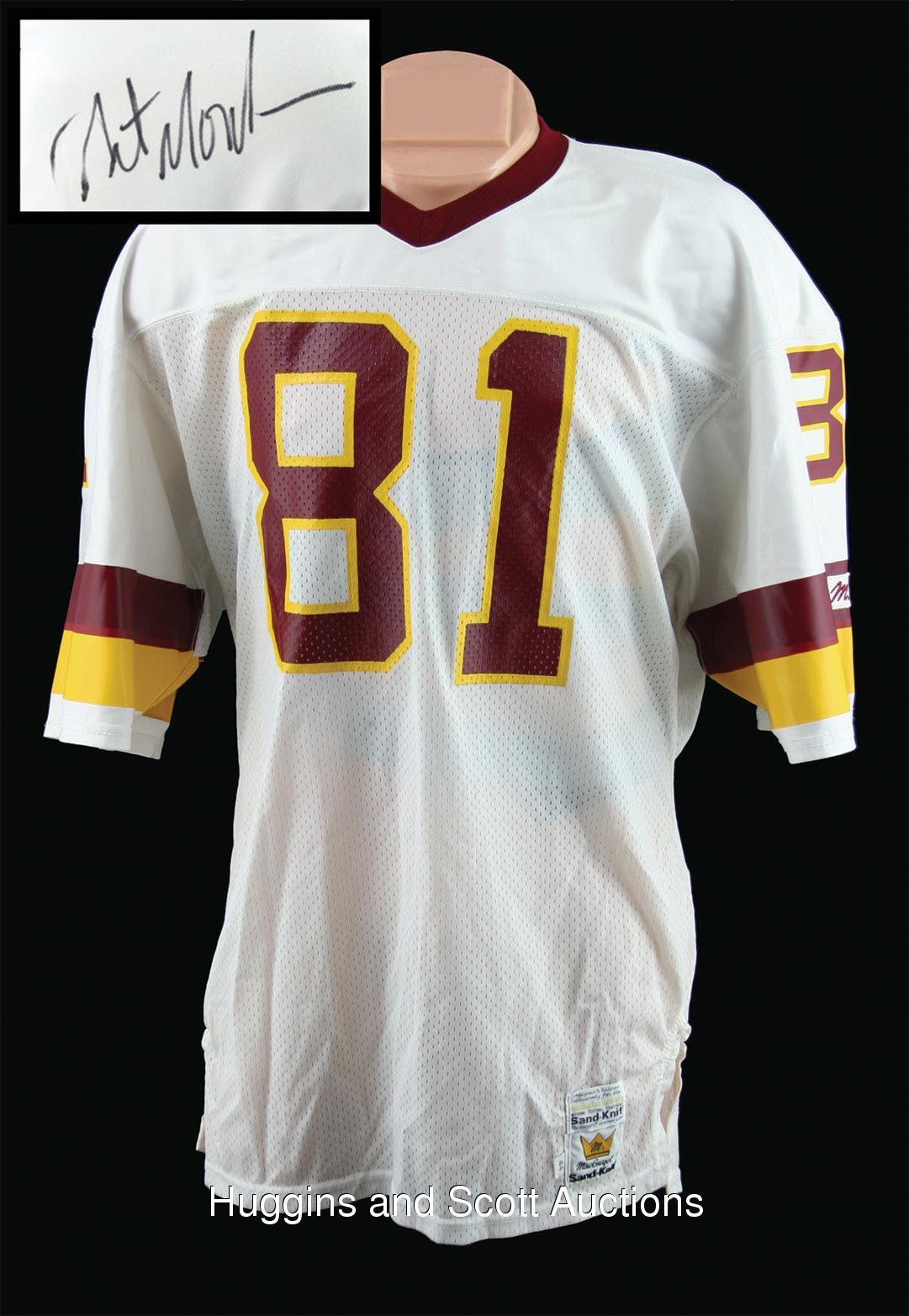 1980s Art Monk Signed and Game Used MacGregor Redskins Jersey