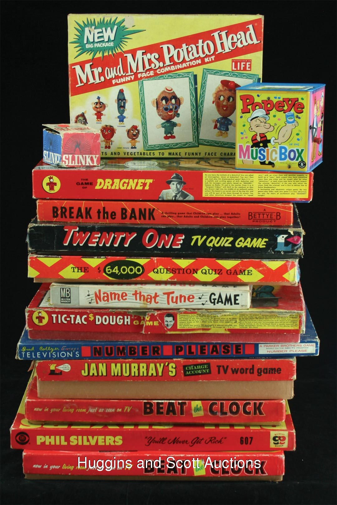 Image: 21) 1950s and 1960s Toys and TV Board Games